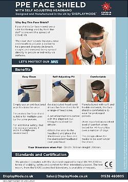 Self adjusting PPE face visor