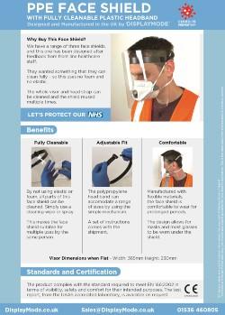 Face visor with plastic headband